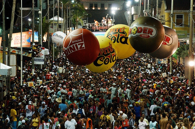 Street parties in Salvador
