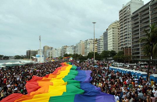 Gay parade in Rio de Janeiro Brazil