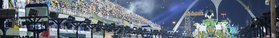 O Sambódromo - Passarela do Samba do Carnaval do Rio