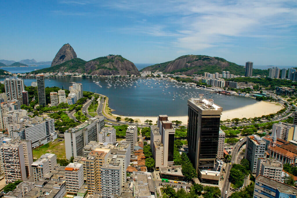 Aerial view of Botafogo beach