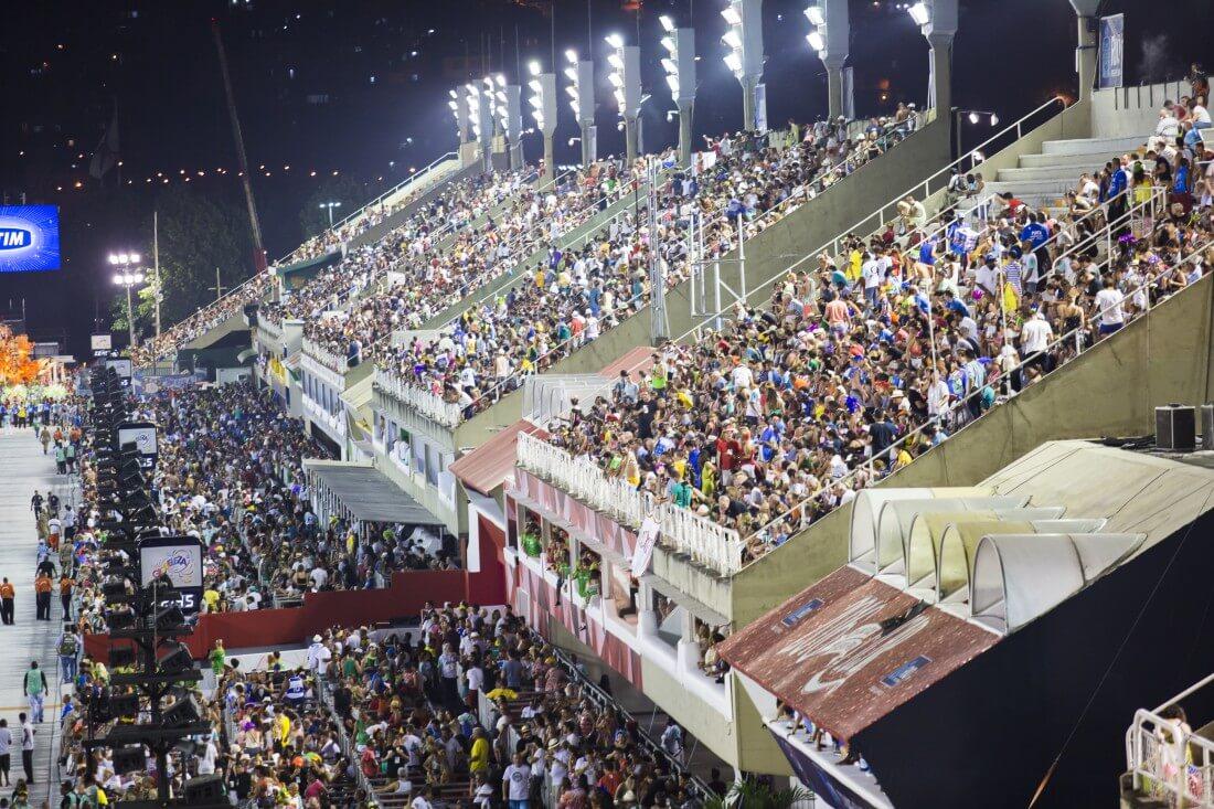 Ensaios técnicos no Sambódromo do Rio de Janeiro