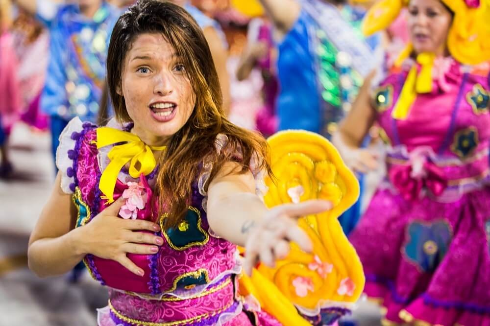 Dancer carnival costumes
