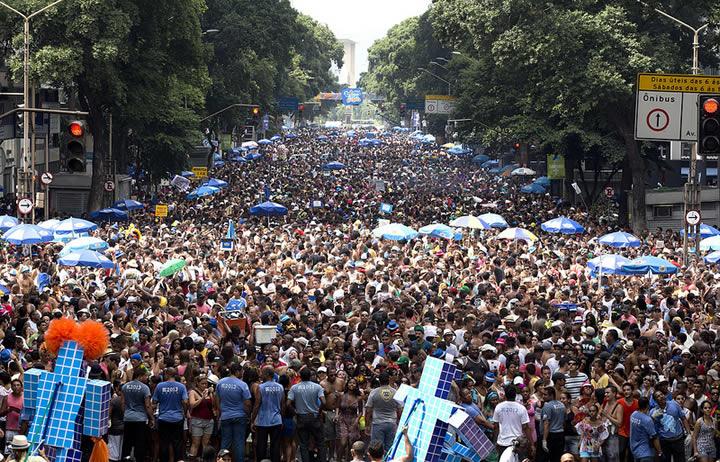 Huge street parties during Carnival