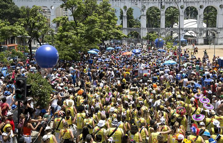 Street parties in Lapa, Rio de Janeiro