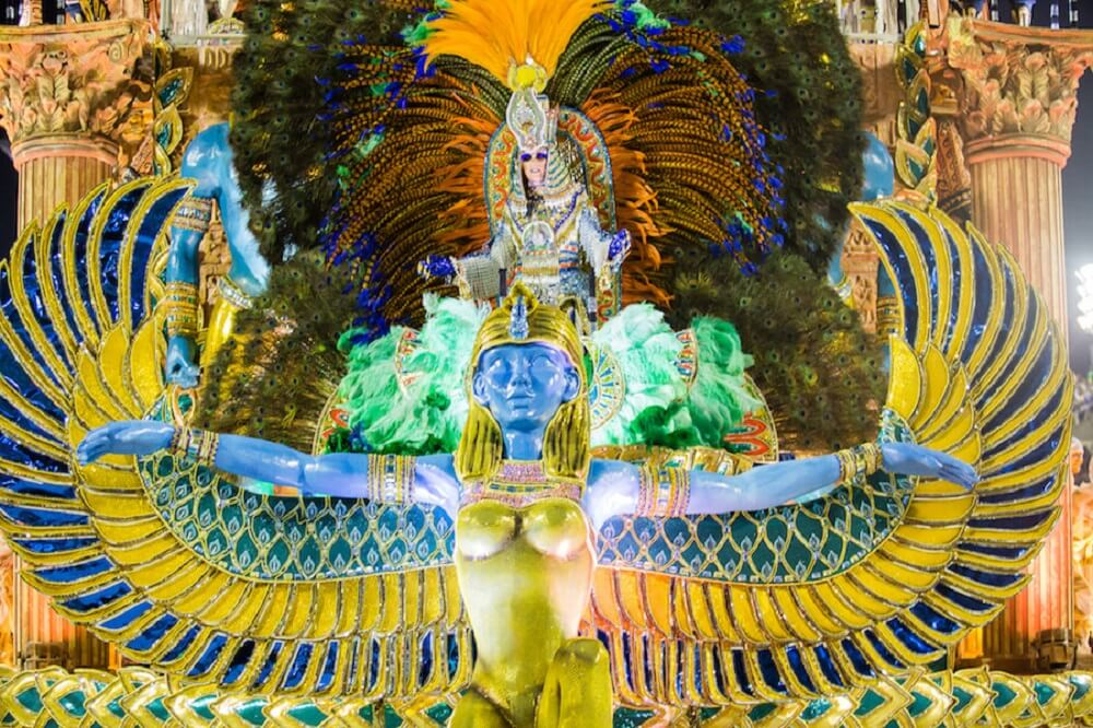 Carrozas en el Carnaval de Rio