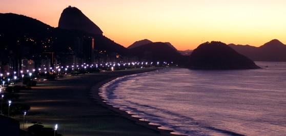Sunset in Copacabana, Rio de Janeiro