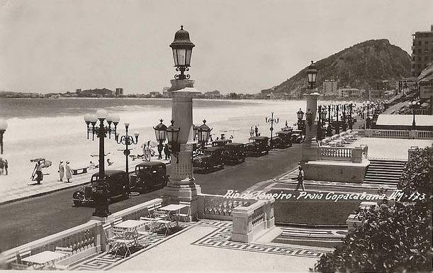 Old photo of Av. Atlantica Copacabana - Rio de Janeiro