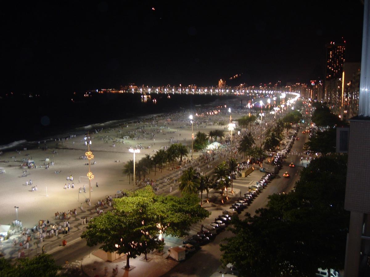 Copacabana Beach at Night - Rio de Janeiro