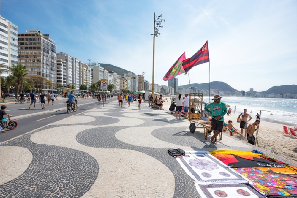 Sidewalk of Copacabana Beach