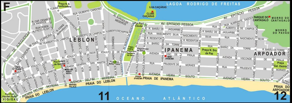 Leblon - Ipanema Street Map