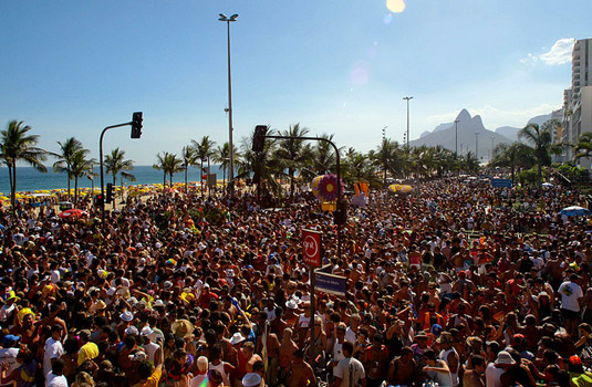 Street Party in Rio during carnival