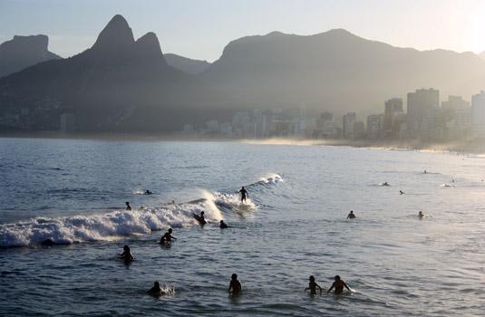 Arpoador Beach in Rio de Janeiro Brazil