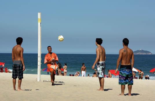 Beach soccer in Leblon Rio