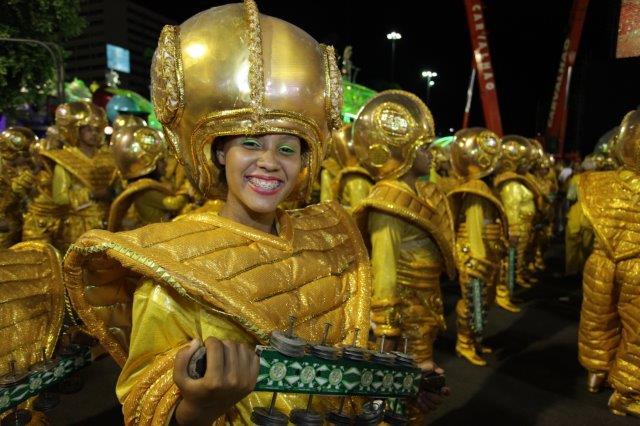 Passista- Carnival samba parade in Rio Brazil