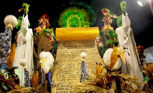 Carnival parade in Rio de Janeiro Brazil
