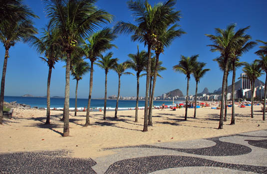 Copacabana beach in Rio Brazil
