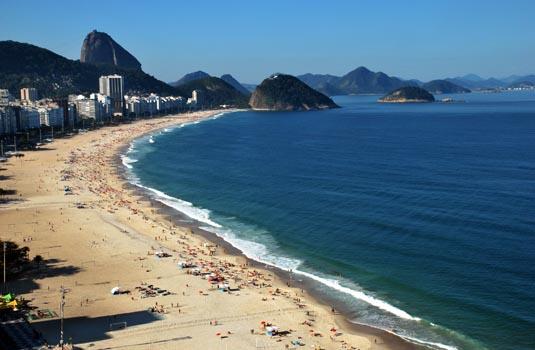 Copacabana Beach in Rio de Janeiro Brazil
