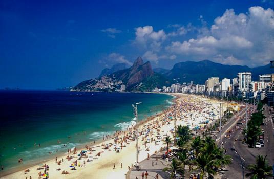 Sunny day in Copacabana Rio de Janeiro Brazil