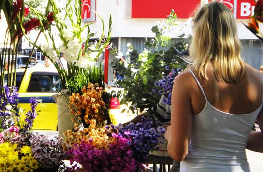 Street Fair - Flower seller