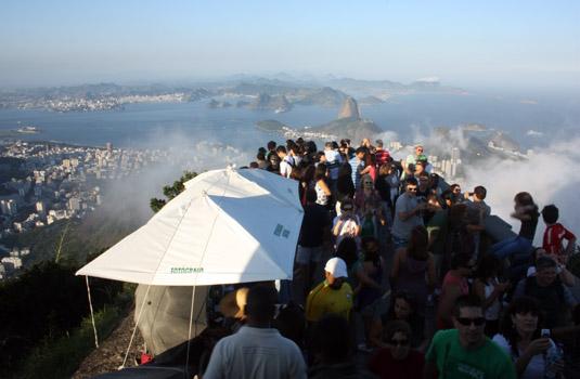 City view from Corcovado in Rio de Janeiro Brazil