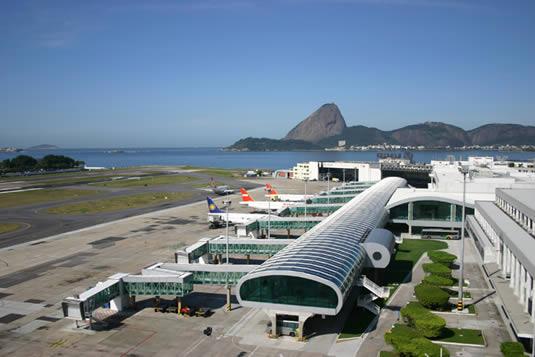 Airport Santos Dumont in Rio de Janeiro, Brazil