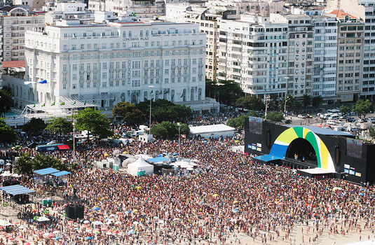 Rio 2016 events in copacabana