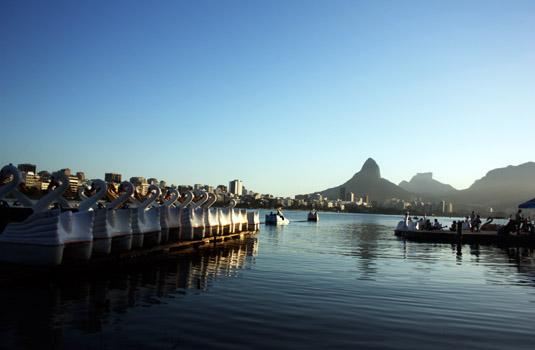 Lagoa Rodrigo de Freitas in Rio de Janeiro Brazil