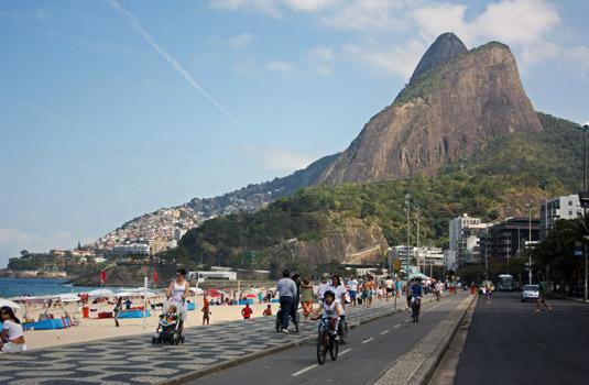 Leblon beach Rio de Janeiro Brazil