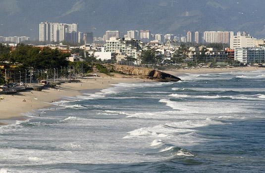 Recreio beach in Rio de Janeiro Brazil