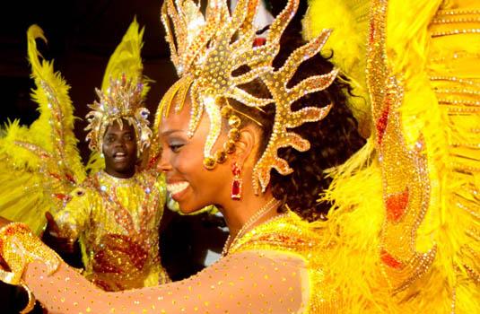 Samba city - Costumes parade in Rio de Janeiro Brazil