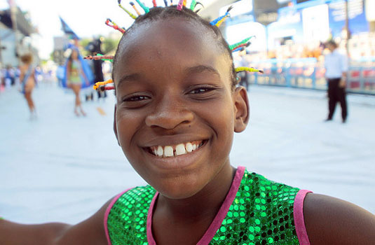 Smiling face - Rio de Janeiro Brazil