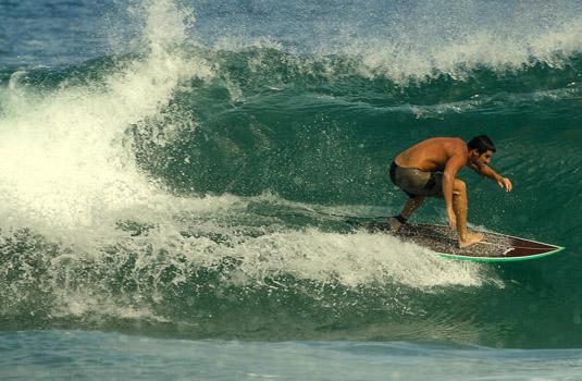 Surfing in Rio de Janeiro Brazil