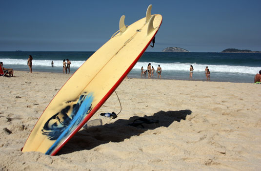 Surfing in Ipanema - Rio de Janeiro Brazil