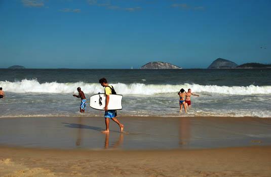 Ipanema beach in Rio de Janeiro Brazil