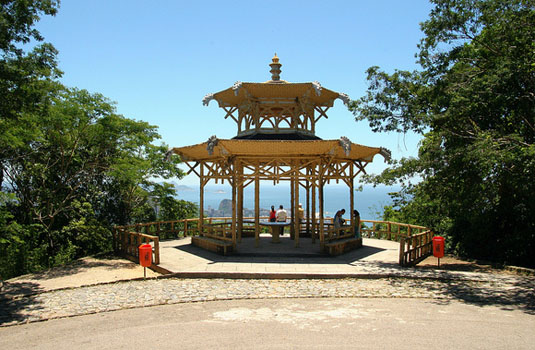 The Chinese view from the Tijuca National Park in Rio de Janeiro