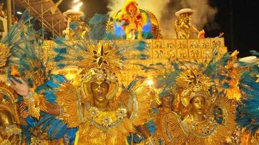 Vila Isabel during Rio carnival in Brazil