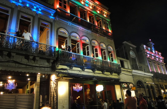 Lapa Clubs and restaurants at night