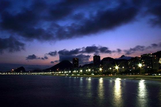 Leme Beach in Rio de Janeiro