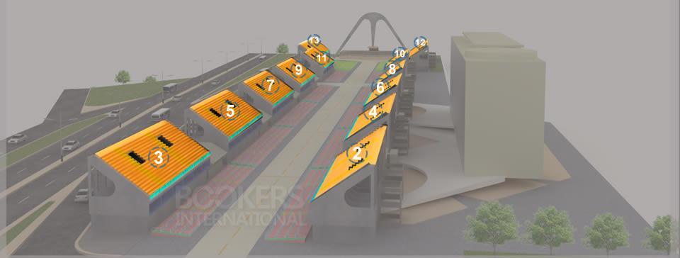 Mapa 3D del Sambódromo - Graderias