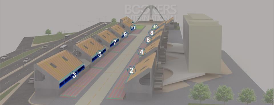 Mapa 3D del Sambódromo