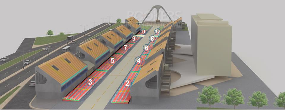 Mapa 3D del Sambódromo - Frisas