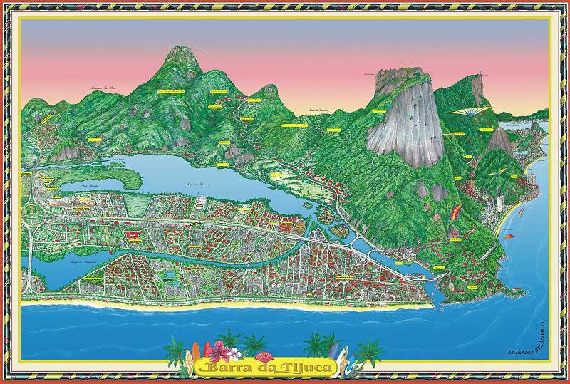 Barra Map - Rio de Janeiro