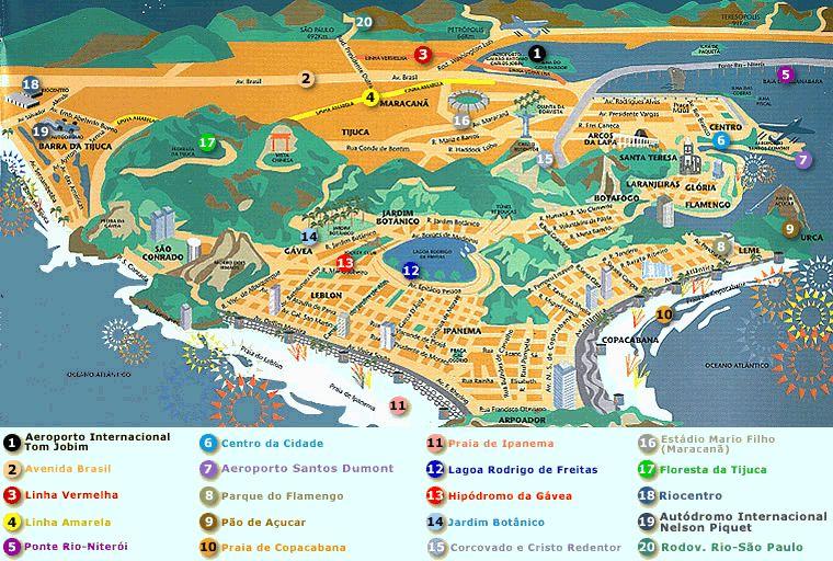 Rio De Janeiro Map Rio de Janeiro Map Rio De Janeiro Map