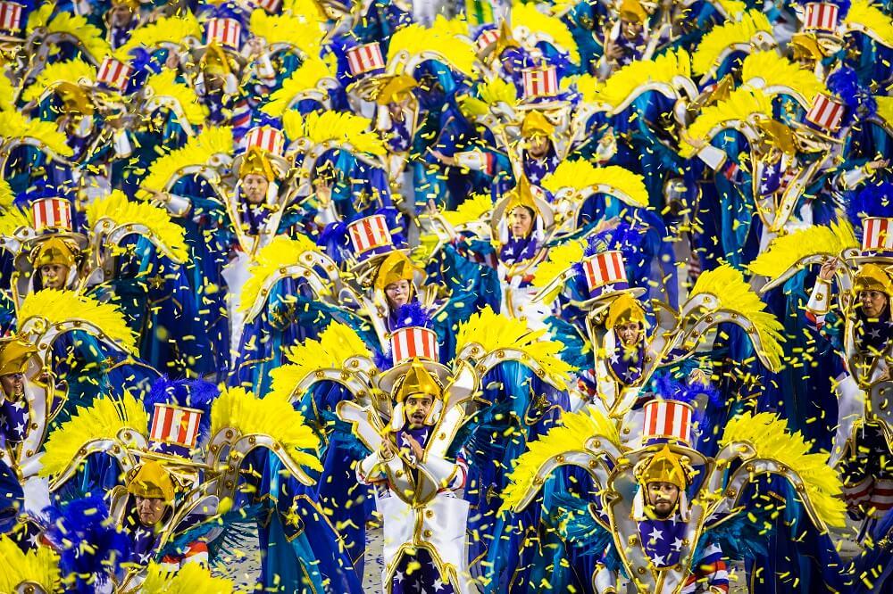 Ala de fantasia de escola de samba do Rio
