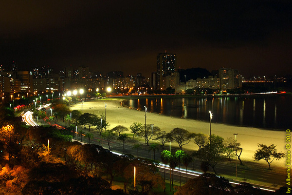 Botafogo Cove at night