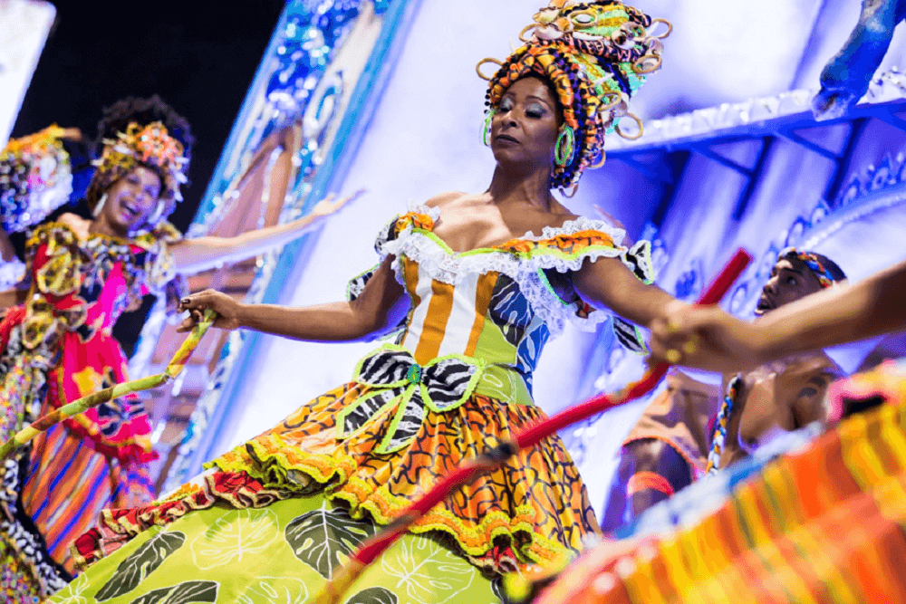 Baianas en el Carnaval de Rio
