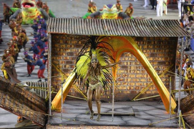 Carnival samba schools in Rio de Janeiro Brazil