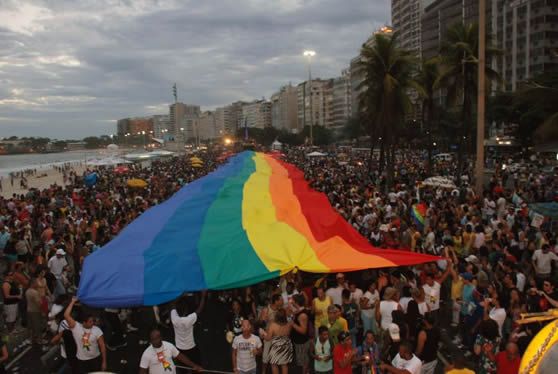 Gay parade in Copacabana