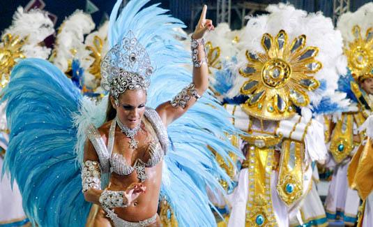 Rio carnival parade in Brazil