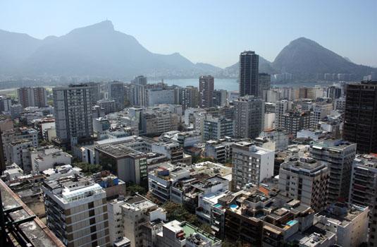 City view from Leblon Rio de Janeiro Brazil
